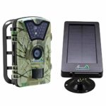 My Command Outdoor 12MP Spy Security Trail Cameras with Night Vision Motion Activated Sensor and Solar Power Pack, IP66 Waterproof 1080p Game Animal Camera, Deer & Wildlife Hunting time Lapse