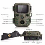 Yongqin Night Vision Hunting Camera, 12mp 1080p Wildlife Trail Camera Waterproof Game Hunting Scouting Cam 65 ft Infrared IR LEDs for Wildlife Monitoring