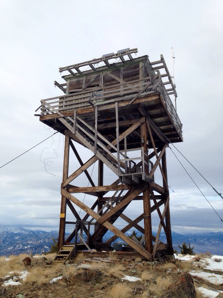 Lookout Mountain lookout. I think it's seen better days.