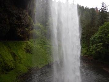 Walking behind the beautiful South Falls. Its refreshing!