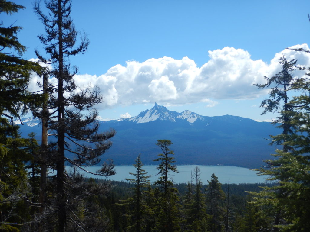 The hike up Mount Bailey had some stunning views of Mount Thielsen and Diamond Lake!