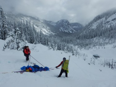 Since this was training, the team decided to practice their rigging to lower Ian down the mountain