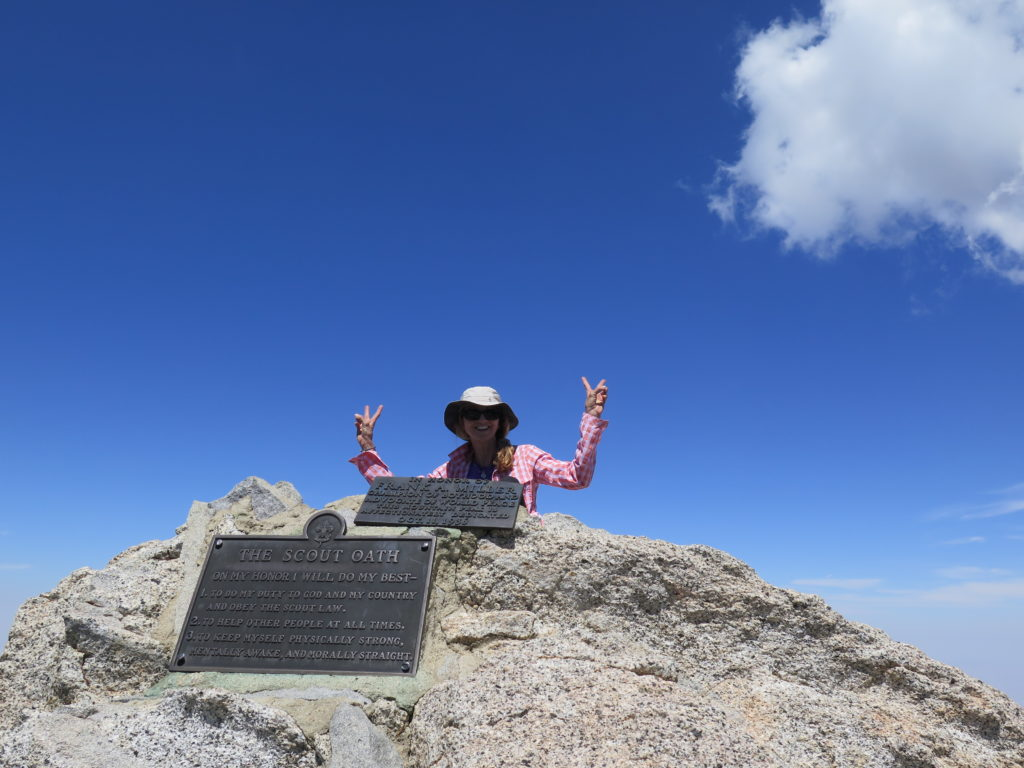 Diana on the top of Miller Peak, a nice little bonus peak near San Jacinto. And we had it all to ourselves :)