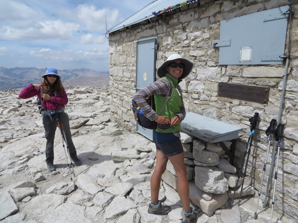 Signing the Whitney summit register. We did it!!