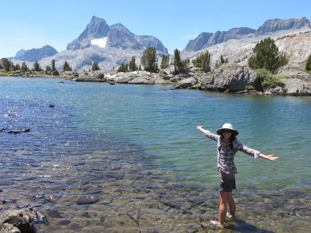 On the John Muir Trail near Island Pass, a truly amazing place!