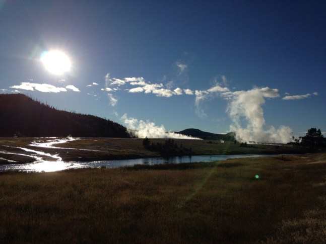 A gorgeous day in Yellowstone