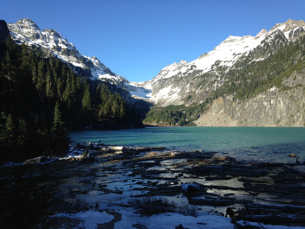 This is beautiful Blanca Lake. Not a bad spot to have all to yourself huh?