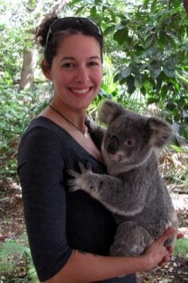 Cuddling koalas in Australia