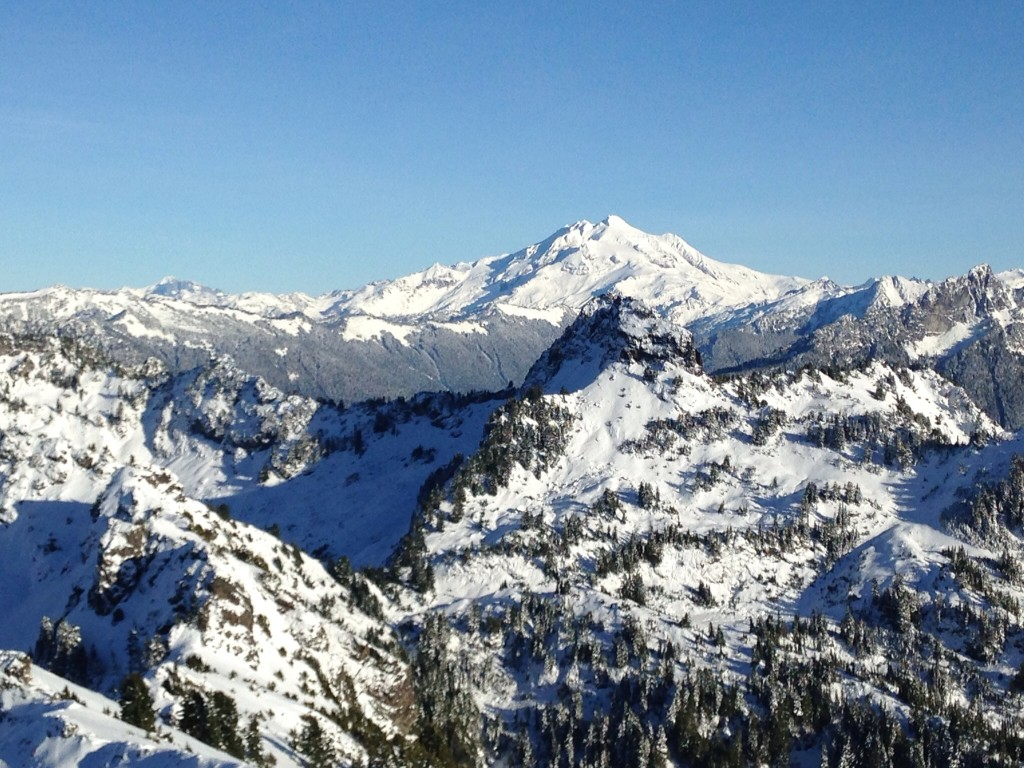 Glacier Peak from the summit of Dickerman, wowza. I love hiking up north where I can get seldom seen views of this gorgeous mountain.