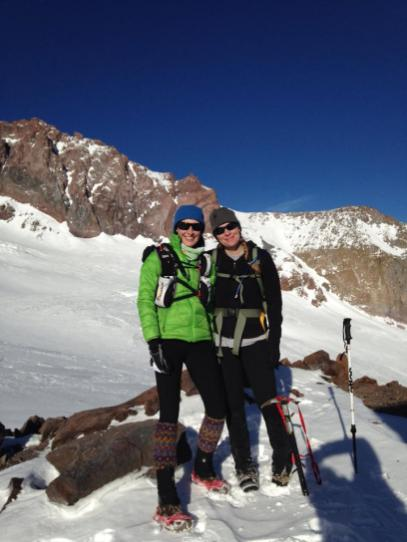 At Camp Muir with Annette - we made it!