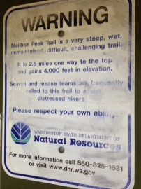 Warning: this trail is a beast, don't be dumb