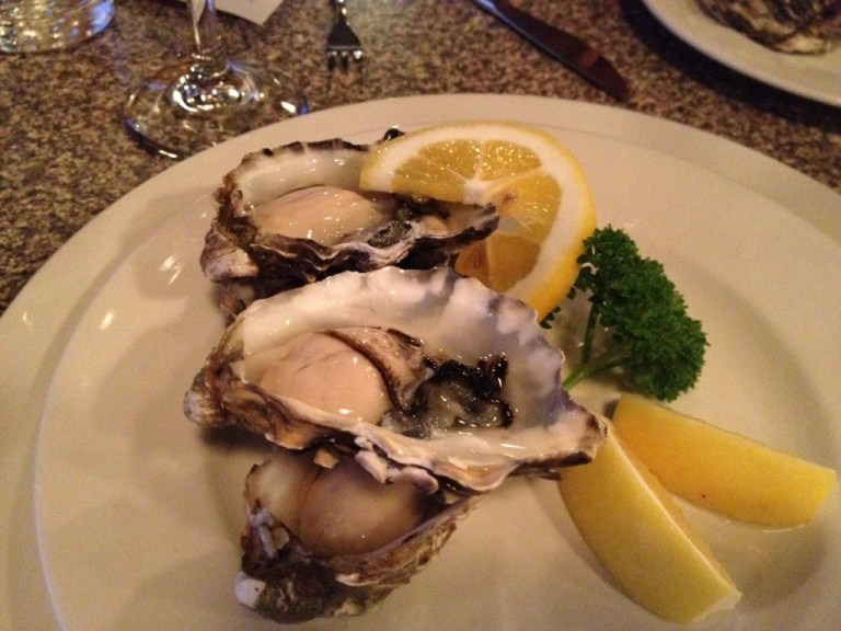 Yep, I'm starting to like this fresh oysters with lemon thing