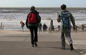 E9, North Sea Trail, Dune und Polderpad, Niederländisch Coastal Path LAW 5-3, Gruß - Zand