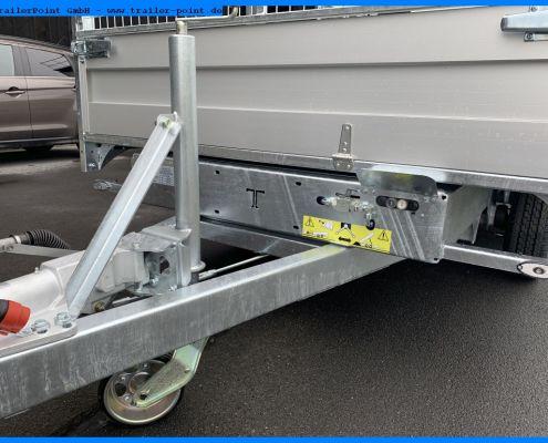 Verstärktes, 500 kg Stützrad Twin Trailer