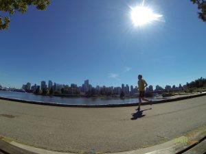 Running vor der Skyline