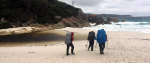 hiking on sand trail hiking Australia