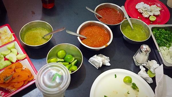 Celaya, Mexico - Taco Condiments