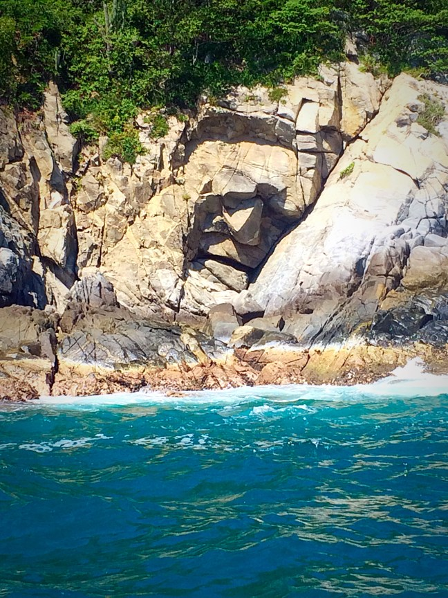 Rock Face - Beaches of Huatulco