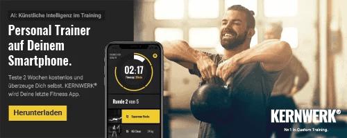 KERNWERK dein Personal Trainer auf dem Smartphone