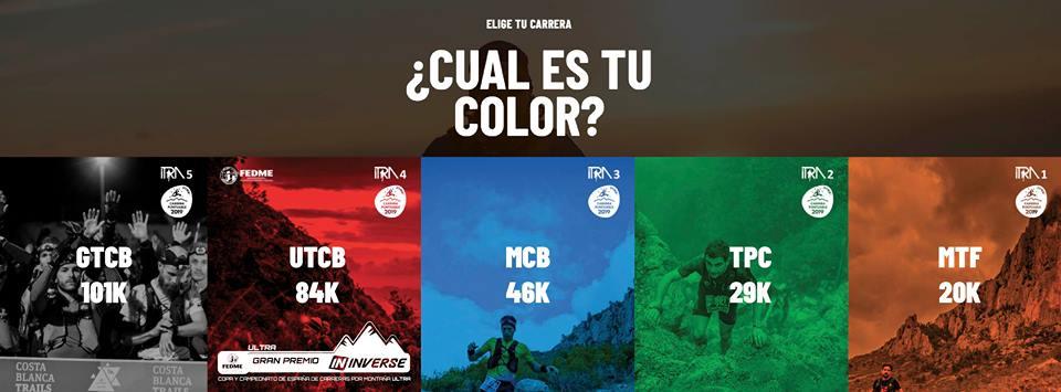 ¿Cuál es tu color? - Costa Blanca Trails 2019