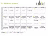 Menú de alimentación semanal (27/04)