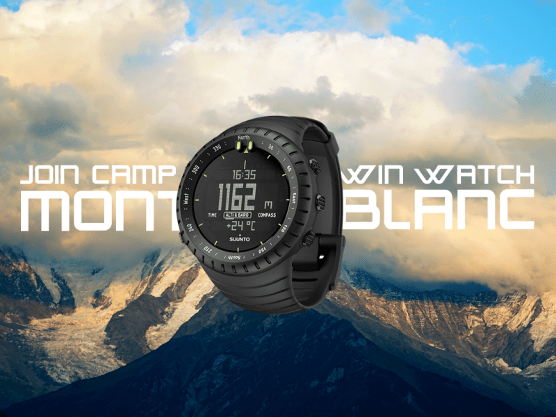 Join Mont Blanc Camp #2 and win Suunto watch