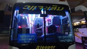 Sleeper bus from Vientiane to Luang Prabang