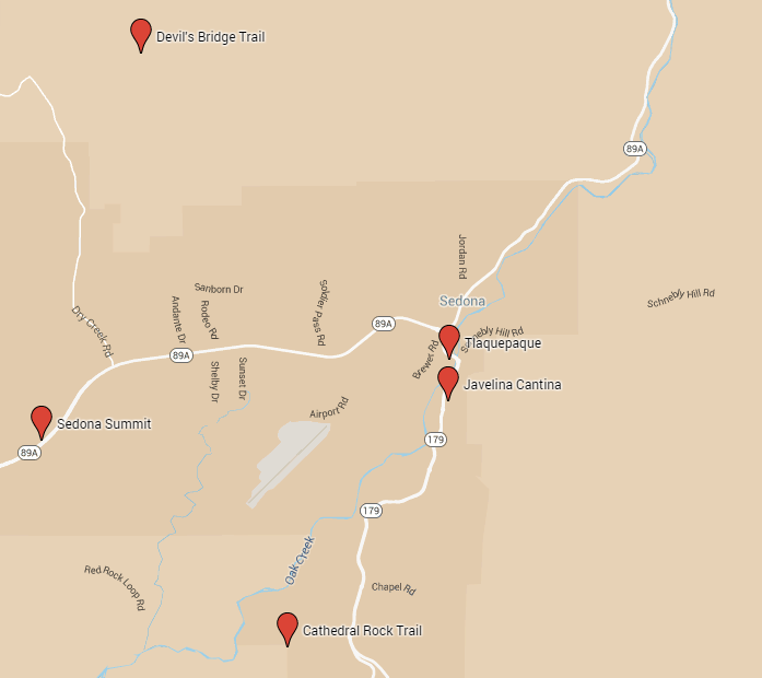 Sedona – Sedona Tourist Attractions Map
