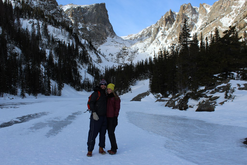 dream lake winter hike