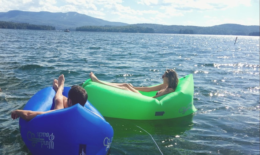 WindPouch in water