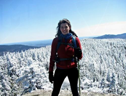 Midlayer on the summit of Mt Moriah