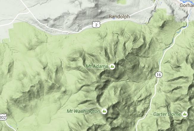 mt adams map