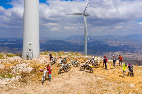 Off road motorcycle tour up to the windmills in Loja, Malaga