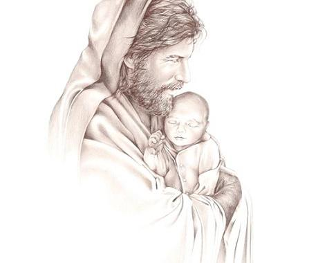 Baby in  Jesus' Arms