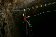 Twin rope Tyrolean