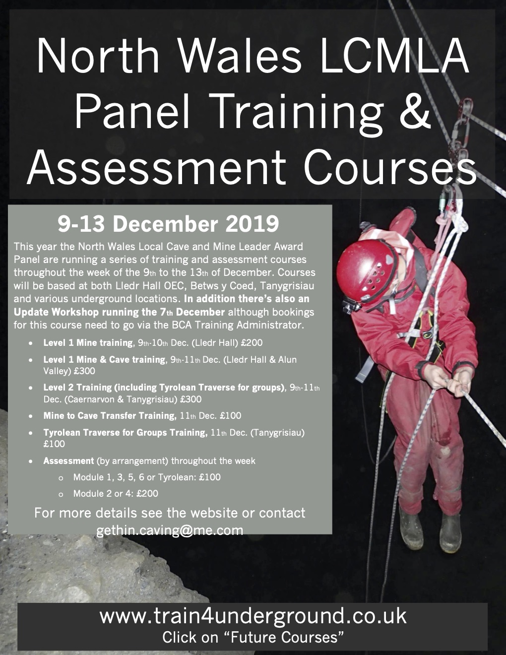 Updated: Local Cave & Mine Leader Training Courses, Dec 2019