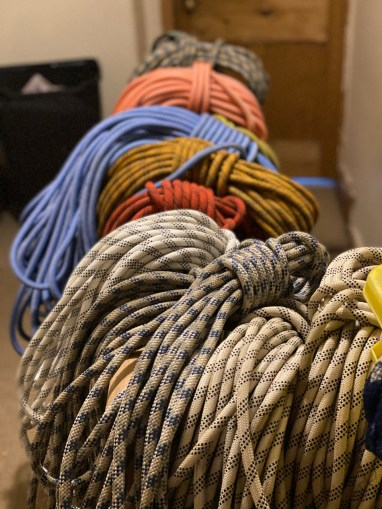 Post course washed ropes