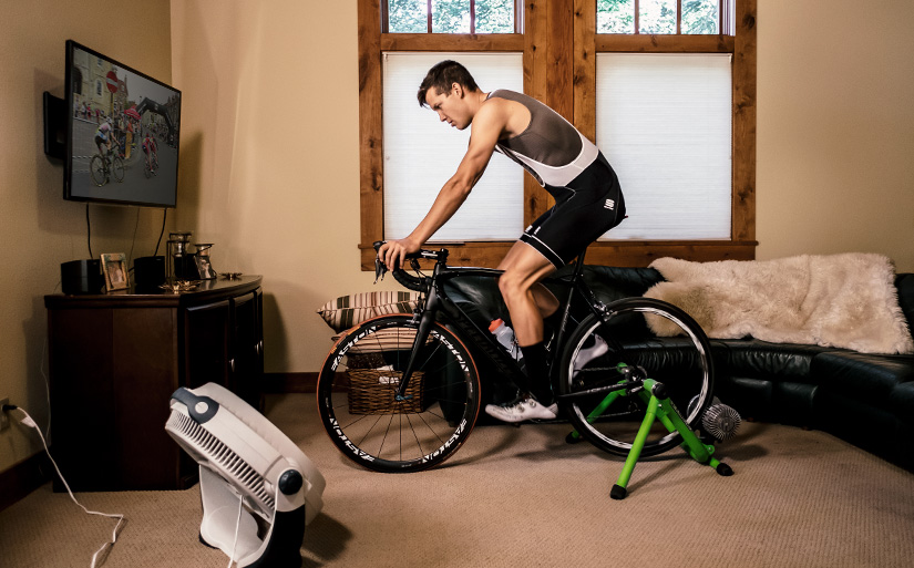 Winter Cycling training plan is best done indoors with a fan