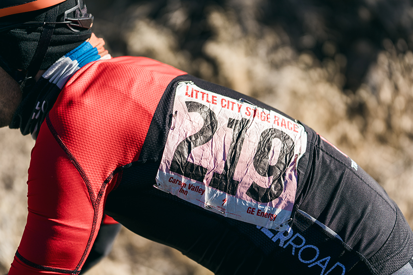Properly place race number
