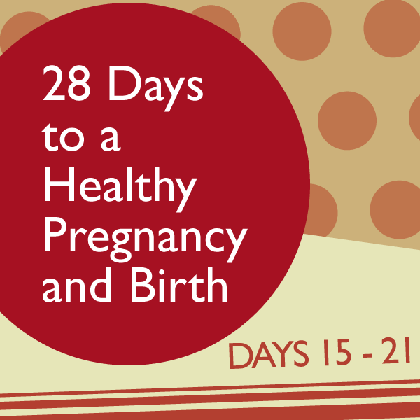 28 Days to a Healthy Pregnancy and Birth: Days 15 – 21