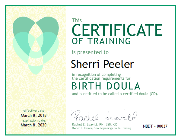Sherri Peeler Certified Birth Doula South Central Pennsylvania