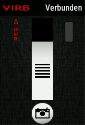 Virb Bedienscreen des Edge810