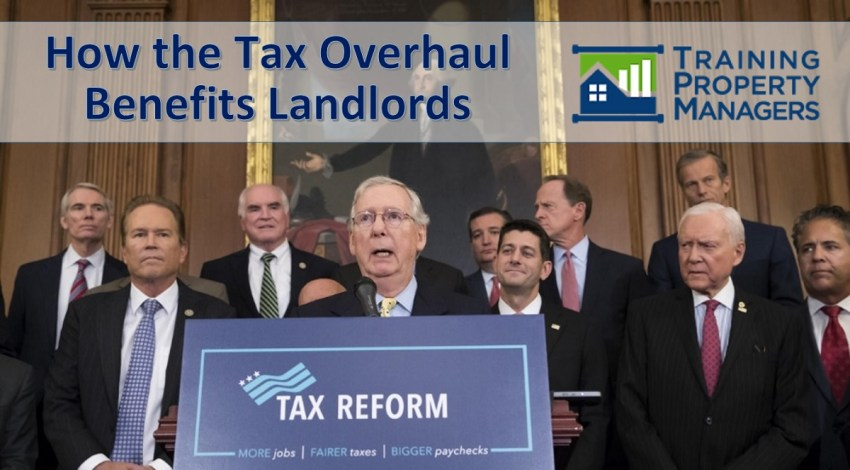 How the Republican Tax Overhaul Benefits Landlords Training Property Managers