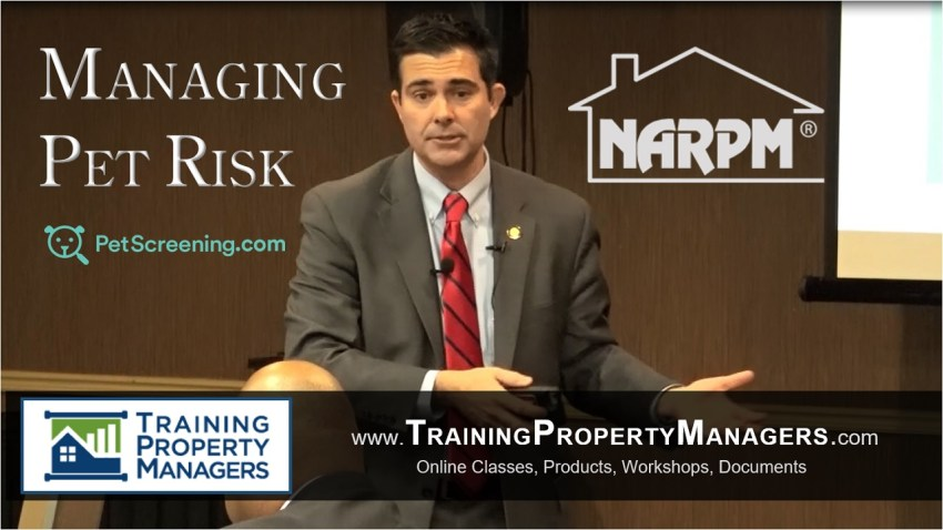 Managing Pet Risk at NARPM Atlanta January Meeting and Luncheon John Bradford Training Property Managers