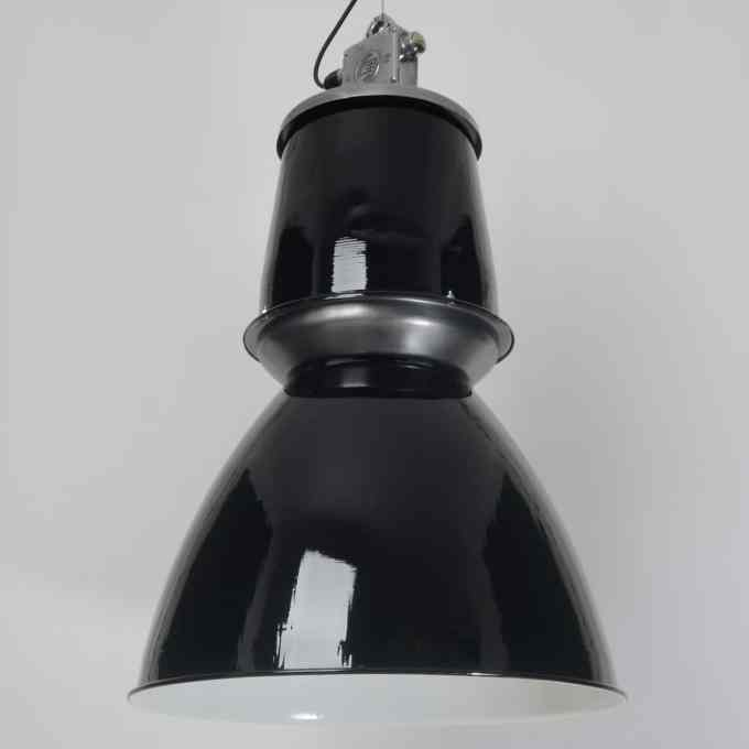 trainspotters lighting vintage giant czech pendant light black