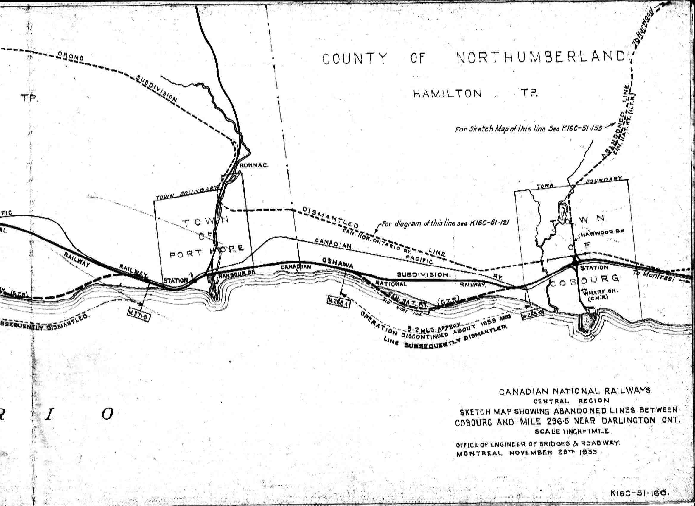 Including Abandoned Main Line Of Former Cnor