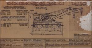T&P 150Ton Steam Wrecking Crane #6X160  diagram dated 81556  Missouri Pacific Diagram