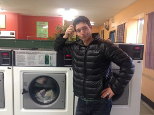 The nuts and bolts of travel. Laundromats! Haven't been in one of these for ohhhh 15 years? They have wifi now! A great office. :)