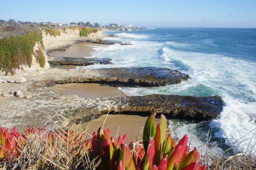 Coastal view north of Santa Cruz on a family walk.