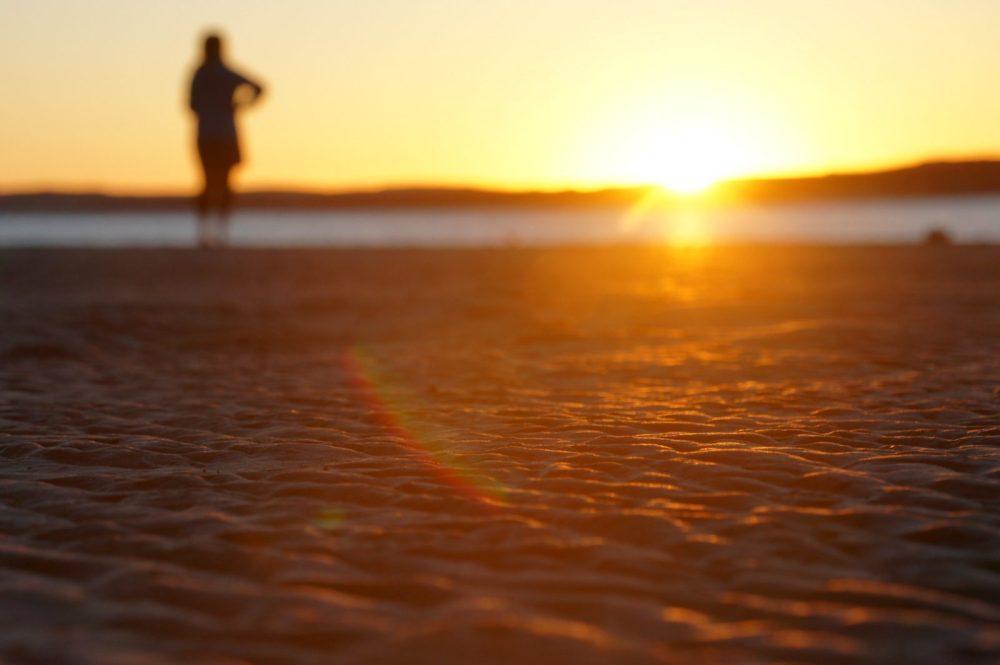Evening beach walk in Morro Bay.